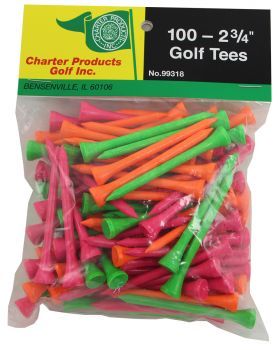"Charter 100 Pack 2 3/4"" Golf Tees"
