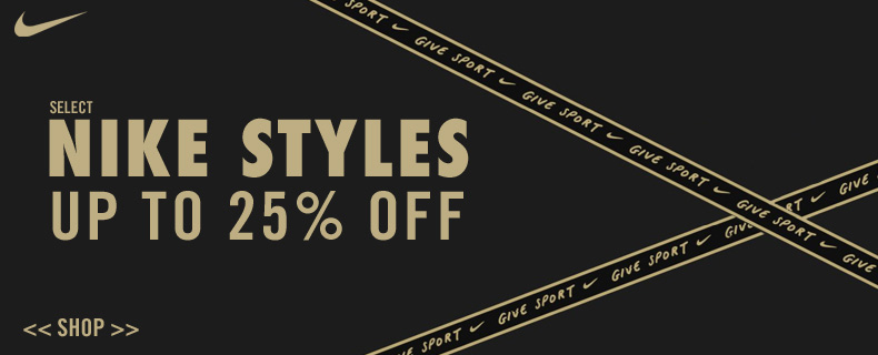 Nike : Save 25% Off Select Styles